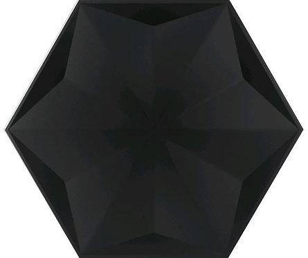 Frozen Crystal Black Satin Ceramic Feature Tile 258x298x8mm