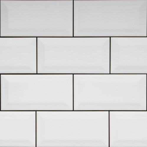 Subway Matt White Bevelled Edge 150x75x5mm