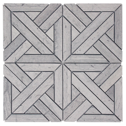Stone Parquet Grey Honed 305x305x10mm