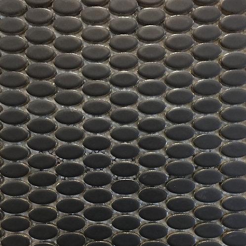 Metal Charcoal Egglet Mosaic 300x300x10mm