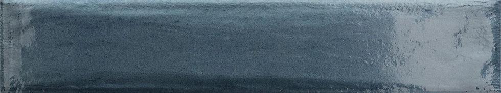 Kings Canyon Blue Gloss Subway Pressed Edge 75x400x8mm