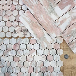 Gorgeous Fiori Rosa Marble mosaics in He