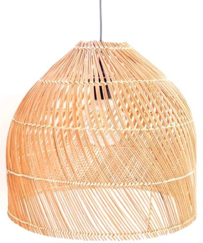 Bora Bora Handwoven Cane Pendant Light Shade 40cmx33cm