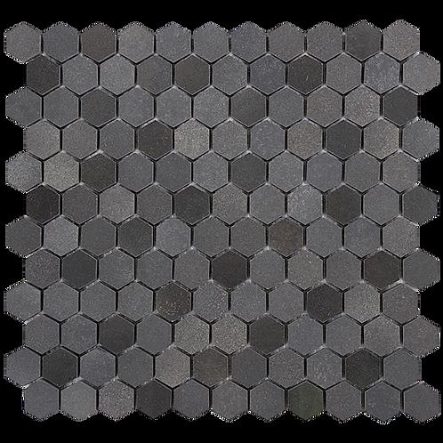 Bluestone Hexagon, 80% Honed & 20% Polished, Random Mixed Mosaic 280x295x10mm