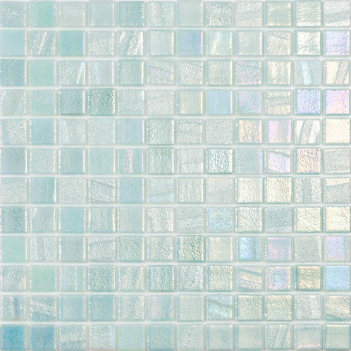 Vision Blend Light Green Glass Pool Mosaic 315x315x4mm (25x25mm chip) Dot Mesh