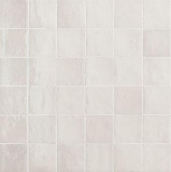 Rose Bay Bianco Gloss Ceramic Zellige Tile 100x100x10mm
