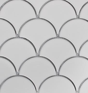 Collaroy White Matt Porcelain Fan Mosaic 270x290mm
