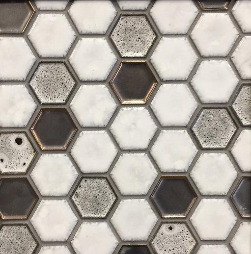 Antigua White Mixterra Hexagonal Mosaic 285x245x10mm