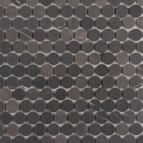 Porto Pietra Grey Penny Round Honed Mosaic 305x287x10mm