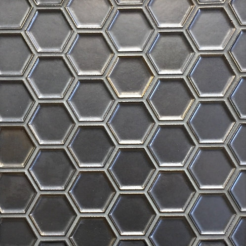 Antigua Metal Indent Mini Hex Mosaic 285x245mm