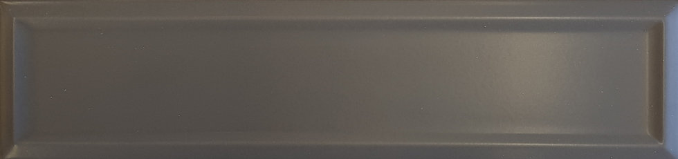 Miami Dark Grey Frame Ceramic Matt Pressed Edge Subway 68x280x7mm