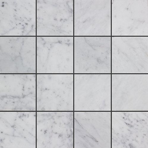 Bedarra Bianco Carrara C Square Honed Rectified 305x305x10mm (Chip 75x75mm)