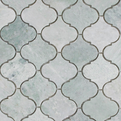 Verdi Cristallo Honed Arabesque Mosaic 303x306x10mm