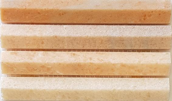 Firenze Rose 3D Honed Mosaic 292x306x8mm (Chip 19x145mm)