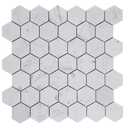 Aruba Carrara C Honed Hexagon 300x315x10mm
