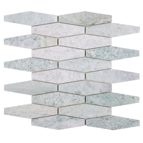 Verdi Cristallo Honed Solarium Mosaic 277x252x10mm