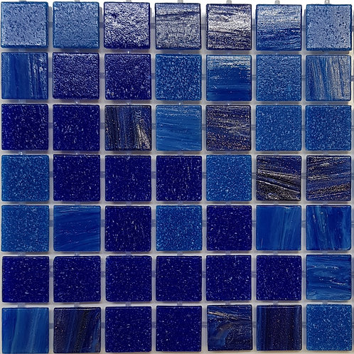 Falls Creek Glass Pool Mosaic 300x300x4mm sheet (20x20mm chip) Dot Mounted