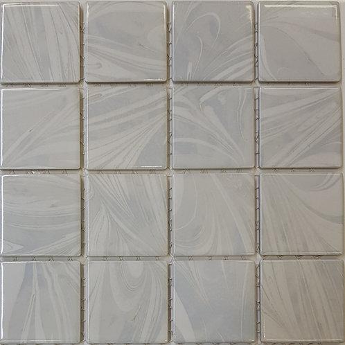Aqua Chalk Porcelain Mosaic 303x303x4mm (58x58mm chip)