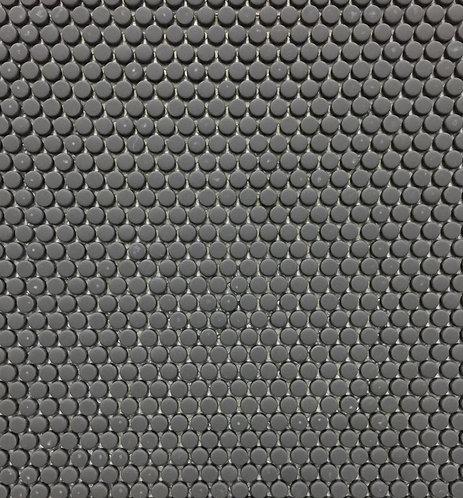 Circlets Charcoal Enamel Glass Matt Mosaic 310x312x5mm