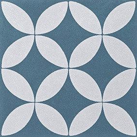 Artisan Oxford French Blue Matt Patterned Rectified 200x200x7mm