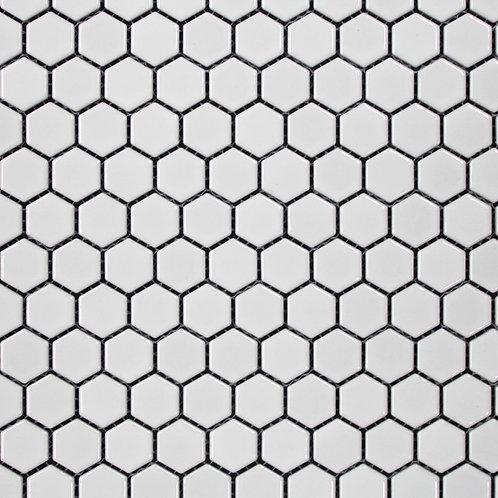 Halt White Hexagonal Matt Mosaic 280x300x5mm