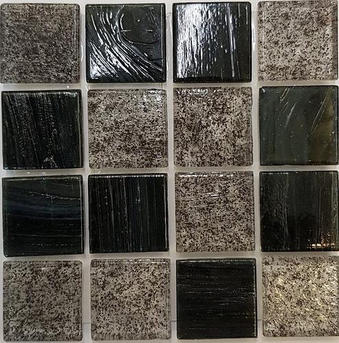 Pacific Two Tripoli Glass Pool Mosaic 322x322x4mm (20x20mm chip) Hotmelt