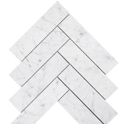 Aruba Carrara C Honed Large Herringbone 285x293x10mm (Chip 50x200mm)