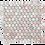 Thumbnail: Fiori Rosa Honed Penny Round Mosaic 305x287x10mm