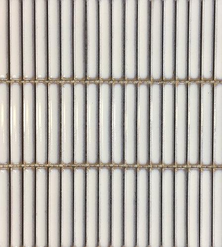 Antique Matchsticks White Glazed Mosaic 294x281x8mm
