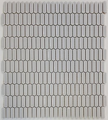 Parkes Grey Gloss Mini Picket Mosaic 285x325x7mm