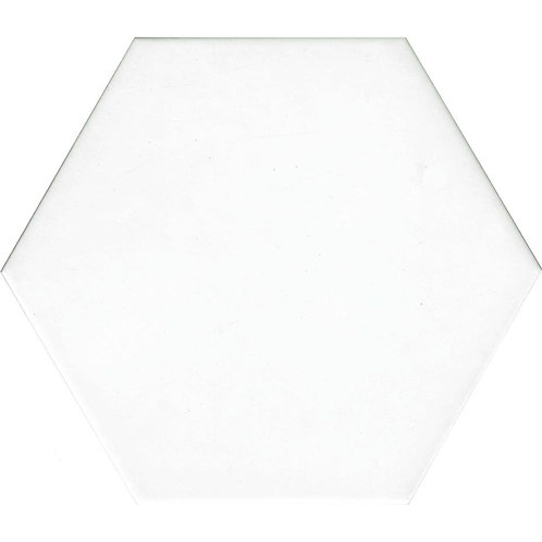White Large Matt Hexagon Tile 195mm