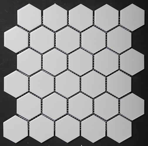 Halt White Hexagonal Matt Mosaic 271x281x5mm