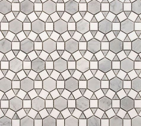 Alhambra Carrara and Thasso Honed Mosaic 305x305x10mm