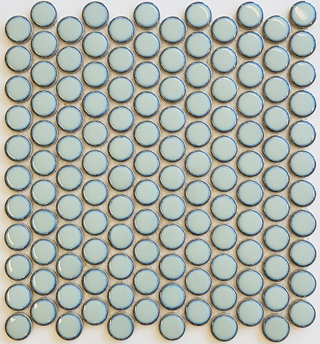 Burleigh Sea Green Penny Round Mosaic 316x327x4mm (28mm chip)