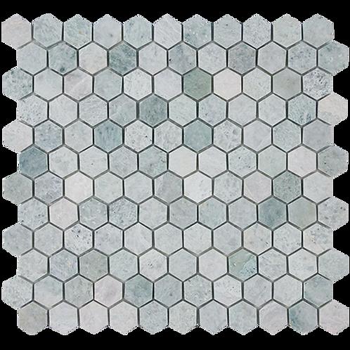 Verdi Cristallo Honed Hexagon Mosaic 280x295x10mm