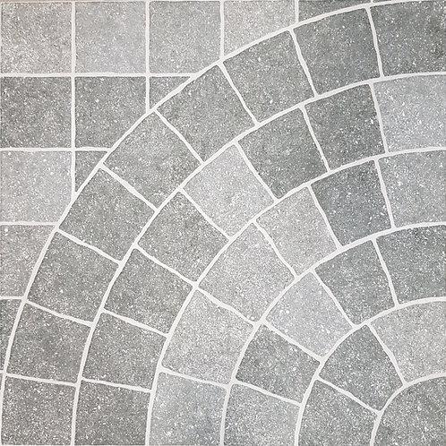 Courtyard Grey Cobble Look External Pressed Edge P4 600x600x10mm