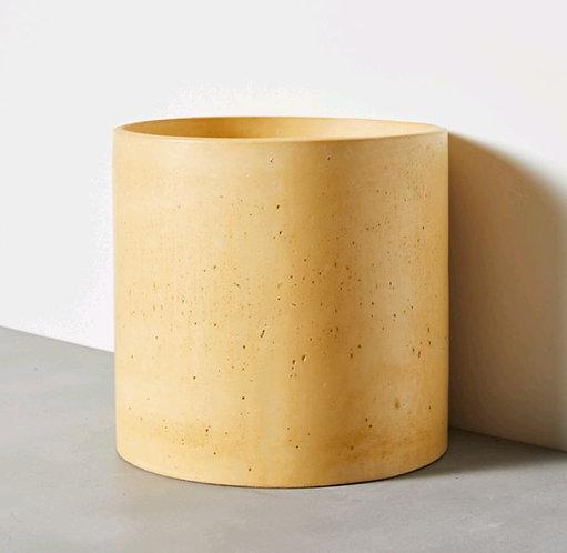 Amalfi Concrete Basin Light Gold 415mm Diameter x 395mm(H) (P.O.A)