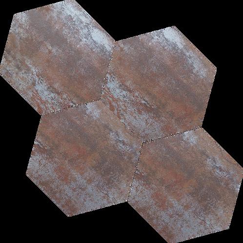 Rustic Iron Hexagon Mosaic 265x230x9mm