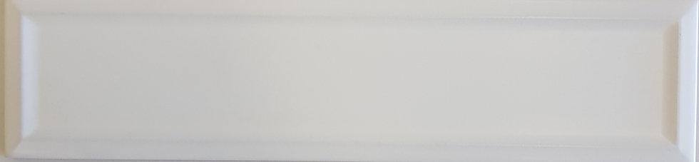 Miami White Frame Ceramic Matt Pressed Edge Subway 68x280x7mm