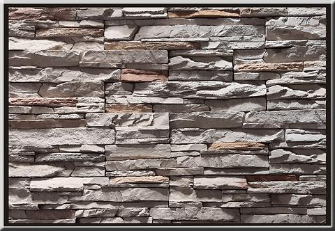 Classic Ledgestone Silver Grey Flat Stone Cladding