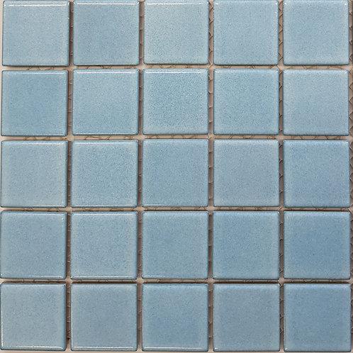 Light Blue Porcelain Mosaic 297x297x4mm (47x47mm chip)
