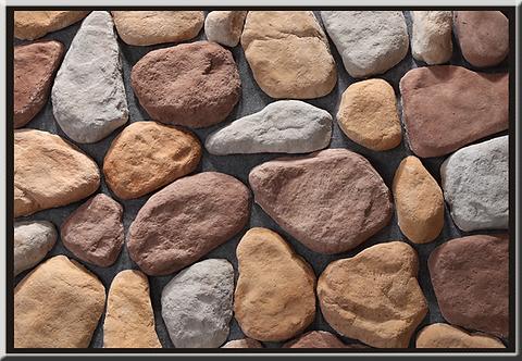 River Rock Multi Bianco Flat Stone Cladding