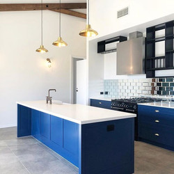 We love this recently completed modern b