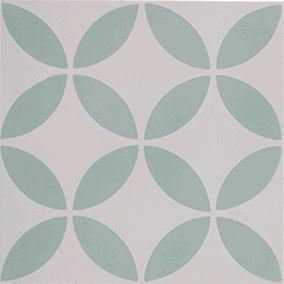 New Farm Daisy Flower in Green & White 200x200x14mm