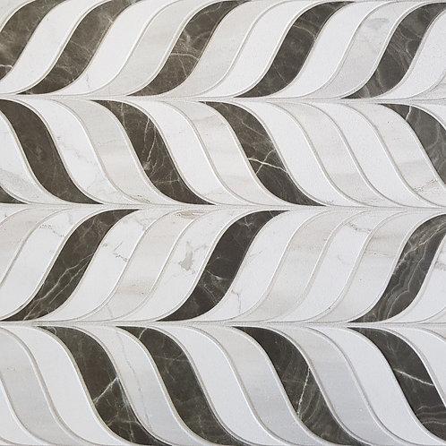 Swirl Mixed Carrara Matt Finish 300x800mm