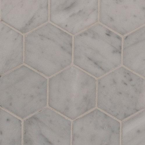 Aruba Carrara C Honed Hexagon 289x250x10mm