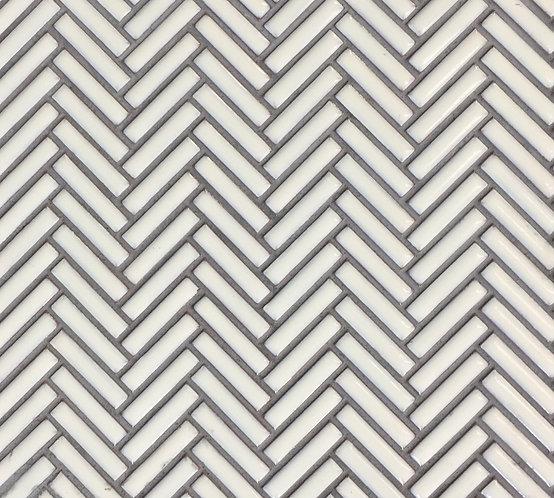 Jenga Off White Herringbone Mosaic 283x283mm