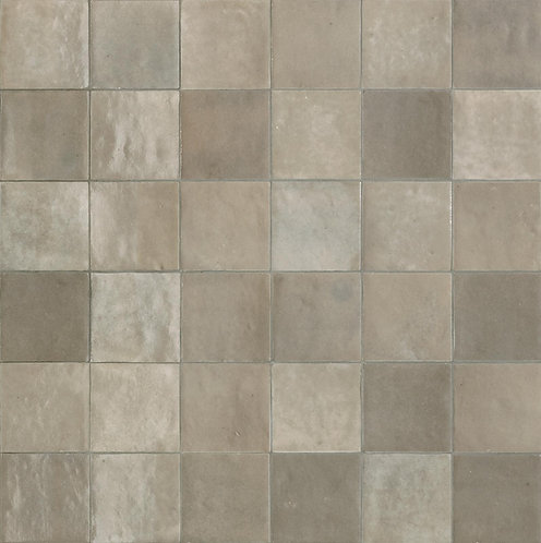 Rose Bay Greige Gloss Ceramic Zellige Tile 100x100x10mm