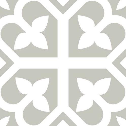 Picasso Bloom Grey Matt Encaustic Look 200x200x7mm
