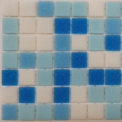 Remarkables Glass Pool Mosaic 300x300x4mm sheet (20x20mm chip) Dot Mounted